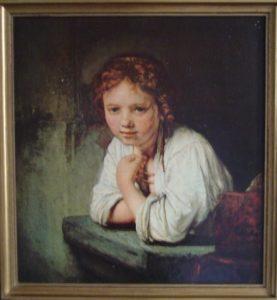 Meisje in het venster