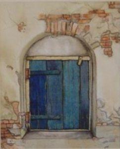 deur-aquarel